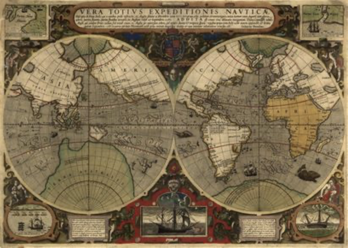 Sea Monsters in 16th century Maps